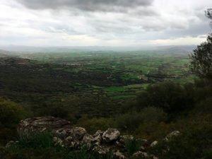 Panorama sulla Marmilla da Bruncu Suergiu al Parco della Giara